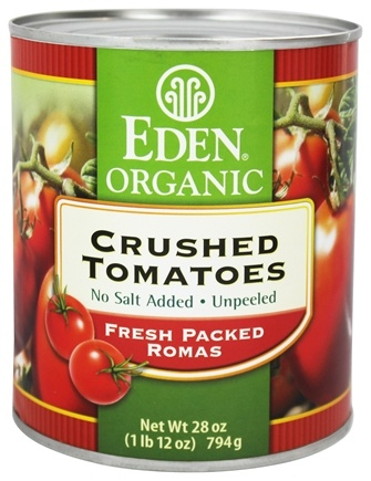 DROPPED: Eden Foods - Organic Crushed Roma Tomatoes - 28 oz.
