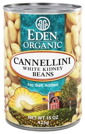 Eden Foods - Organic Cannellini White Kidney Beans - 15 oz.