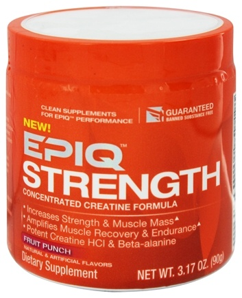 DROPPED: EPIQ - Strength Concentrated Creatine Formula Fruit Punch 60 Servings - 90 Grams