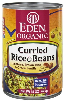 DROPPED: Eden Foods - Organic Curried Rice and Beans - 15 oz.