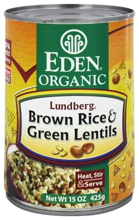 DROPPED: Eden Foods - Organic Lundberg Brown Rice and Green Lentils - 15 oz.