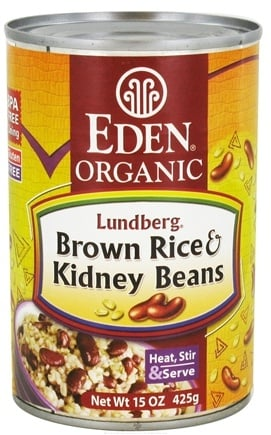 DROPPED: Eden Foods - Organic Lundberg Brown Rice and Kidney Beans - 15 oz. CLEARANCE PRICED