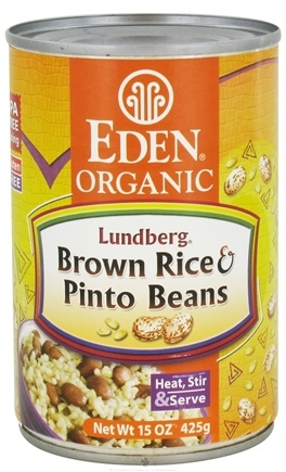 DROPPED: Eden Foods - Organic Lundberg Brown Rice and Pinto Beans - 15 oz. CLEARANCE PRICED