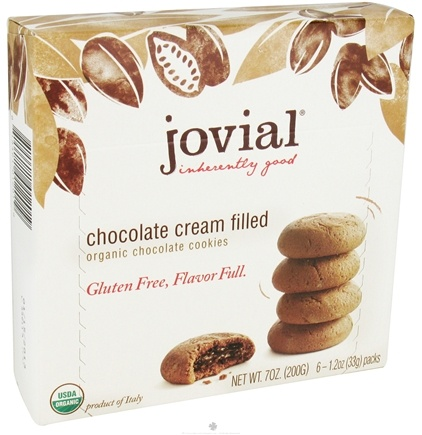 DROPPED: Jovial Foods - Organic Chocolate Cookies Chocolate Cream Filled - 7 oz. CLEARANCE PRICED