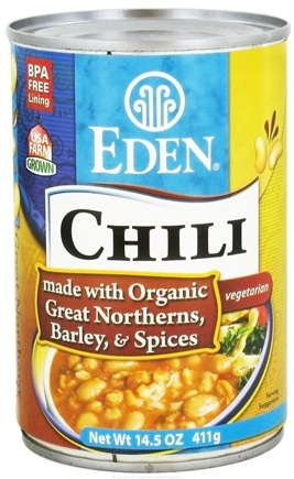 DROPPED: Eden Foods - Chili Organic Great Northern and Barley - 15 oz.