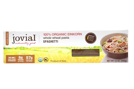 DROPPED: Jovial Foods - Organic Whole Grain Spaghetti Pasta - 12 oz. CLEARANCE PRICED