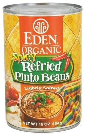 DROPPED: Eden Foods - Organic Spicy Refried Pinto Beans - 15 oz. CLEARANCE PRICED