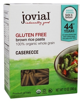 DROPPED: Jovial Foods - Organic Gluten Free Caserecce Brown Rice Pasta - 12 oz. CLEARANCE PRICED