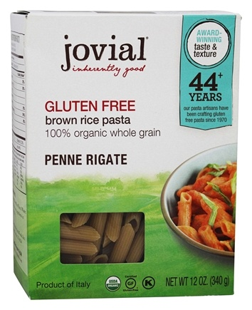 DROPPED: Jovial Foods - Organic Gluten Free Penne Rigate Brown Rice Pasta - 12 oz. CLEARANCE PRICED