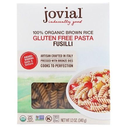 DROPPED: Jovial Foods - Organic Gluten Free Fusilli Brown Rice Pasta - 12 oz. CLEARANCE PRICED