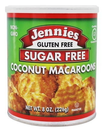 Jennies - Sugar Free Macaroons Loaded With Omega-3 Coconut - 8 oz.