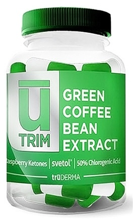 DROPPED: truDERMA - UTrim Green Coffee Bean Extract - 60 Capsules CLEARANCE PRICED