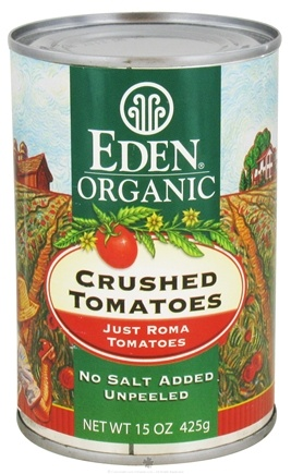 DROPPED: Eden Foods - Organic Crushed Roma Tomatoes - 15 oz. CLEARANCE PRICED