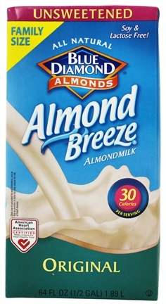 Blue Diamond Growers - Almond Breeze Almond Milk Unsweetened Original - 0.5 Gallon