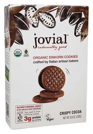 DROPPED: Jovial Foods - Einkorn Cookies Crispy Cocoa - 8.8 oz. CLEARANCE PRICED