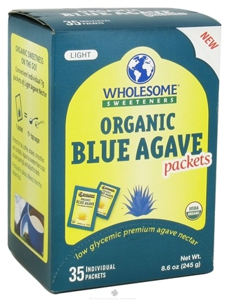DROPPED: Wholesome Sweeteners - Organic Blue Agave - 35 Packet(s) CLEARANCE PRICED