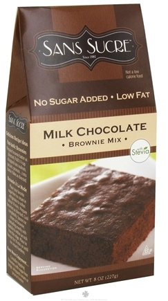 DROPPED: Sans Sucre - Brownie Mix Milk Chocolate - 8 oz. CLEARANCE PRICED