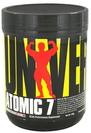 DROPPED: Universal Nutrition - Atomic 7 BCAA Performance Black Cherry Bomb 30 Servings - 386 Grams CLEARANCE PRICED