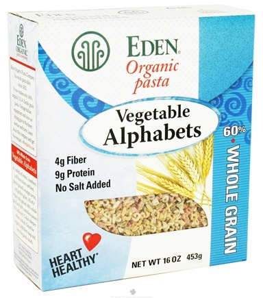 DROPPED: Eden Foods - Organic Pasta Vegetable Alphabets - 16 oz. CLEARANCE PRICED