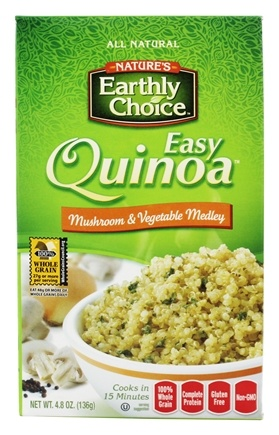DROPPED: Nature's Earthly Choice - Easy Quinoa Mushroom and Vegetable Medley - 4.7 oz.
