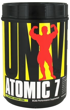 Universal Nutrition - Atomic 7 BCAA Powder Performance 'Lectric Lemon Lime 76 Servings - 1 kg. CLEARANCE PRICED