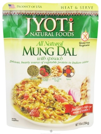 DROPPED: Jyoti Natural Foods - All Natural Mung Dal with Spinach - 10 oz. CLEARANCE PRICED