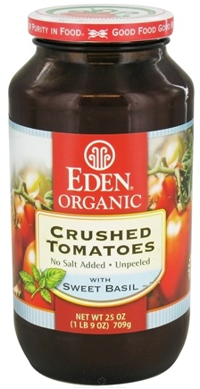 DROPPED: Eden Foods - Organic Crushed Roma Tomatoes with Sweet Basil - 25 oz. CLEARANCE PRICED
