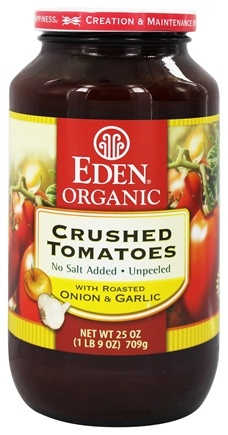Eden Foods - Organic Crushed Roma Tomatoes with Roasted Onion and Garlic - 25 oz.