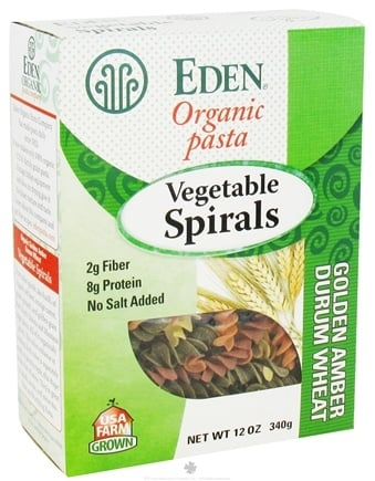 DROPPED: Eden Foods - Organic Pasta Vegetable Spirals - 12 oz. CLEARANCE PRICED
