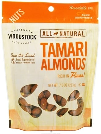 DROPPED: Woodstock Farms - All-Natural Tamari Almonds - 7.5 oz.