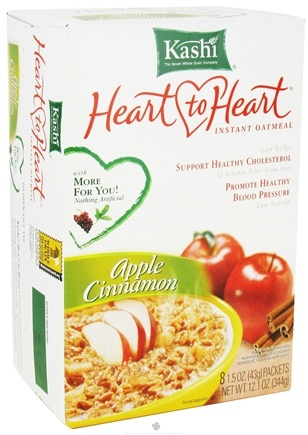 DROPPED: Kashi - Heart to Heart Instant Oatmeal Apple Cinnamon - 12.1 oz. CLEARANCE PRICED