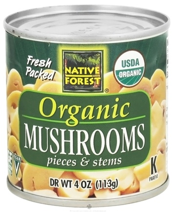 DROPPED: Native Forest - White Mushrooms Organic Pieces & Stems - 4 oz. CLEARANCE PRICED