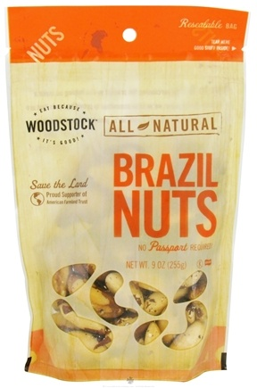 DROPPED: Woodstock Farms - All-Natural Brazil Nuts - 9 oz.
