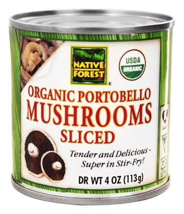 Native Forest - Portobello Mushrooms Sliced Organic - 4 oz.