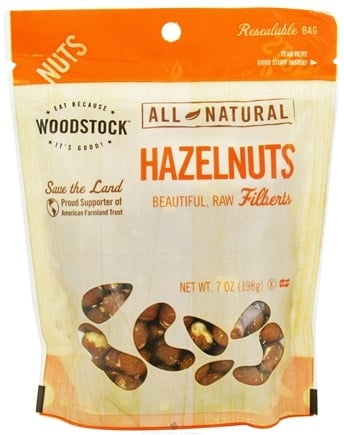 DROPPED: Woodstock Farms - All-Natural Raw Shelled Hazelnuts - 7 oz.