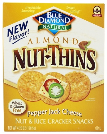 Blue Diamond Growers - Almond Nut-Thins Nut & Rice Cracker Snack Pepper Jack Cheese - 4.25 oz.