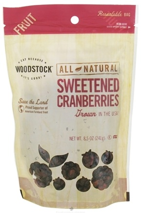 DROPPED: Woodstock Farms - All-Natural Sweetened Cranberries - 8.5 oz.