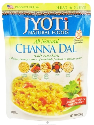 DROPPED: Jyoti Natural Foods - All Natural Channa Dal with Zucchini - 10 oz. CLEARANCE PRICED