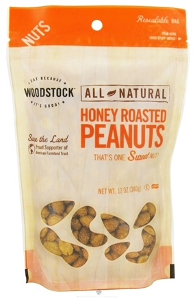 DROPPED: Woodstock Farms - All-Natural Honey Roasted Peanuts - 12 oz. CLEARANCE PRICED