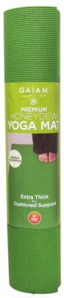 DROPPED: Gaiam - Premium Yoga Mat Honeydew - CLEARANCE PRICED