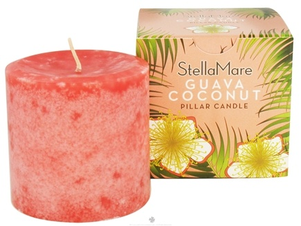 DROPPED: Stella Mare - Pillar Candle 3x3 Guava Coconut - 12 oz. CLEARANCE PRICED