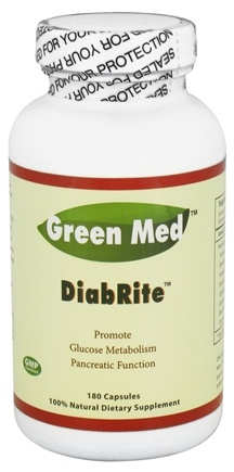 DROPPED: Green Med - DiabRite - 180 Capsules