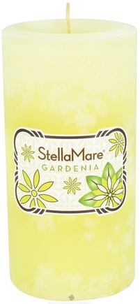 DROPPED: Stella Mare - Pillar Candle 3x6 Gardenia - 21.6 oz. CLEARANCE PRICED