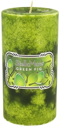 DROPPED: Stella Mare - Pillar Candle 3x6 Green Fig - 21.6 oz. CLEARANCE PRICED