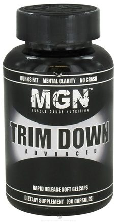 DROPPED: Muscle Gauge Nutrition - Trim Down Advanced - 90 Capsules CLEARANCE PRICED