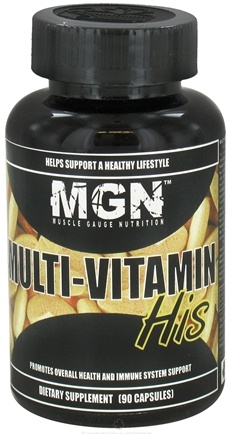 DROPPED: Muscle Gauge Nutrition - Multi-Vitamin His - 90 Capsules CLEARANCE PRICED