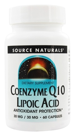 DROPPED: Source Naturals - Coenzyme Q10 Lipoic Acid 30 mg. - 60 Capsules