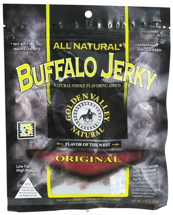 DROPPED: Golden Valley Natural - Natural Buffalo Jerky with Naturally Smoked Flavoring Original - 3 oz. CLEARANCE PRICED