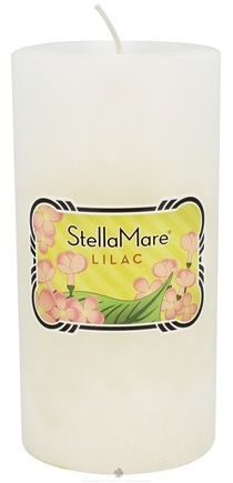 DROPPED: Stella Mare - Pillar Candle 3x6 Lilac - 21.6 oz. CLEARANCE PRICED