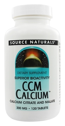 Source Naturals - CCM Calcium Citrate And Malate 300 mg. - 120 Tablets
